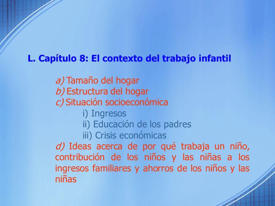 L. Capítulo 8: El contexto del trabajo infantil
