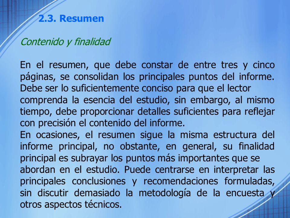 2.3. Resumen Contenido y finalidad.
