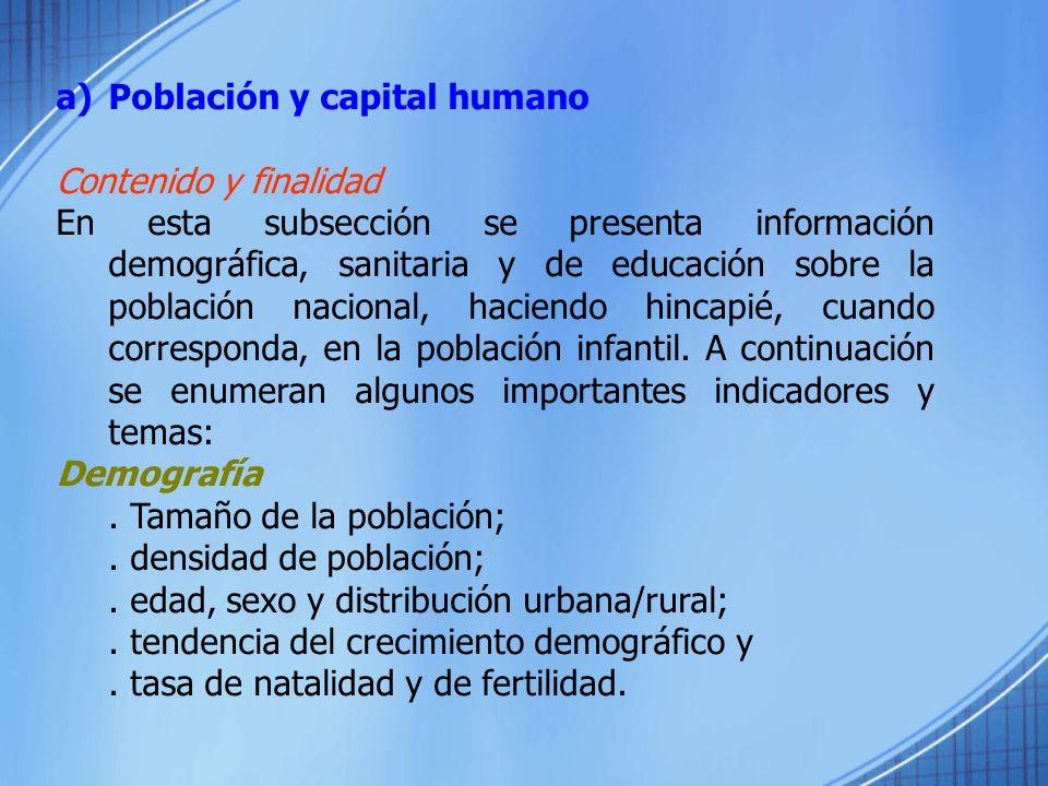 Población y capital humano