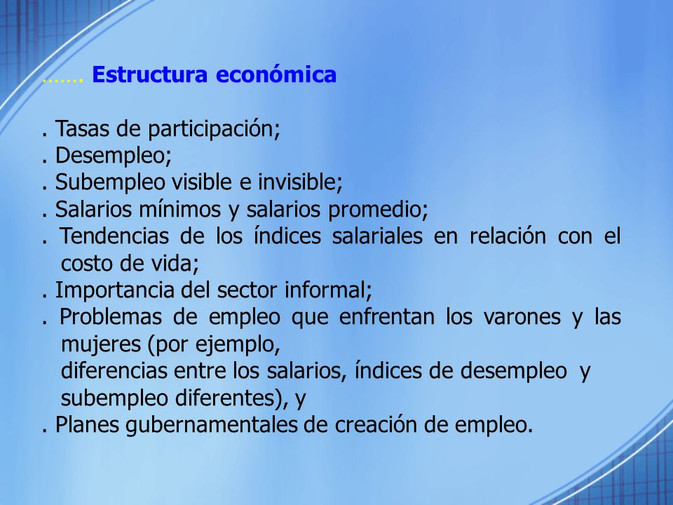 ……. Estructura económica