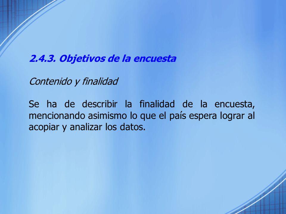2.4.3. Objetivos de la encuesta