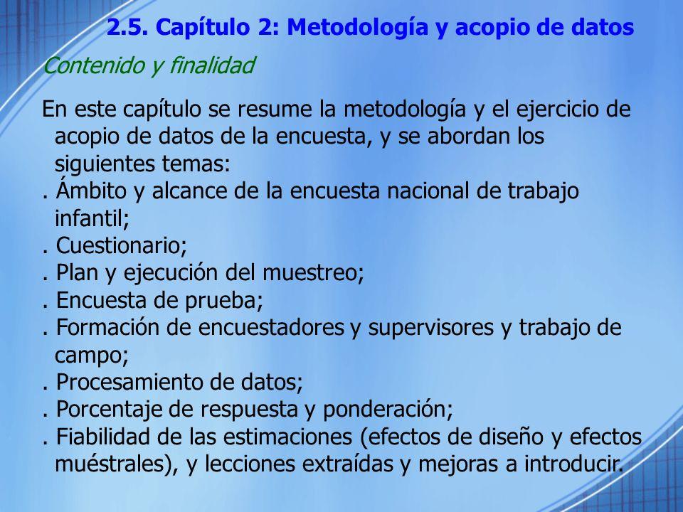 2.5. Capítulo 2: Metodología y acopio de datos