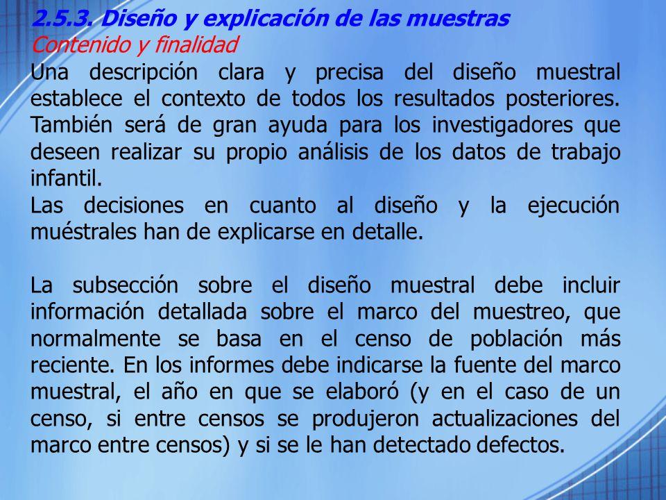2.5.3. Diseño y explicación de las muestras