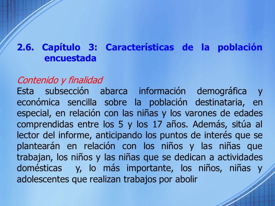 2.6. Capítulo 3: Características de la población encuestada