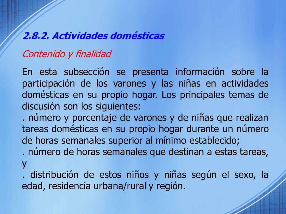 2.8.2. Actividades domésticas