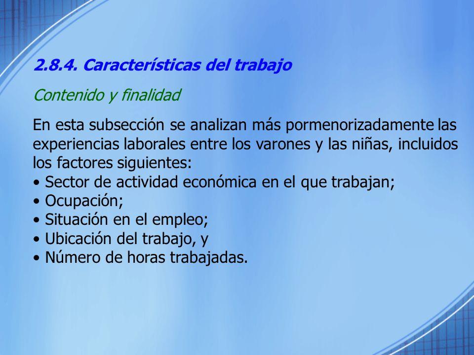 2.8.4. Características del trabajo