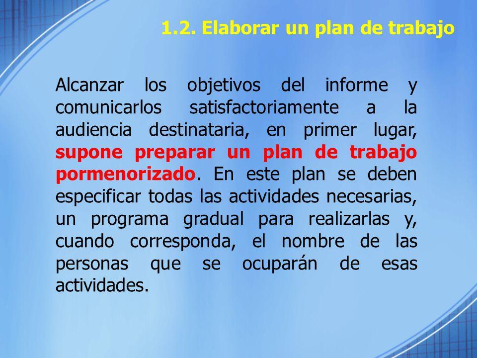 1.2. Elaborar un plan de trabajo