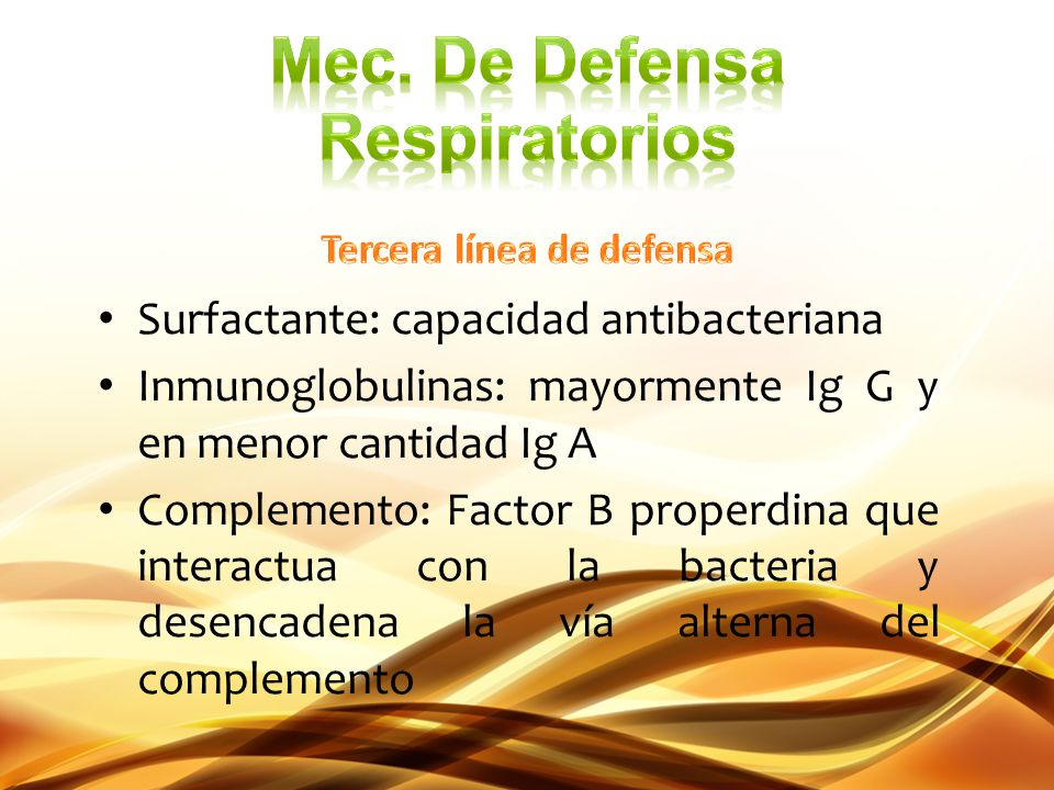 Mec. De Defensa Respiratorios