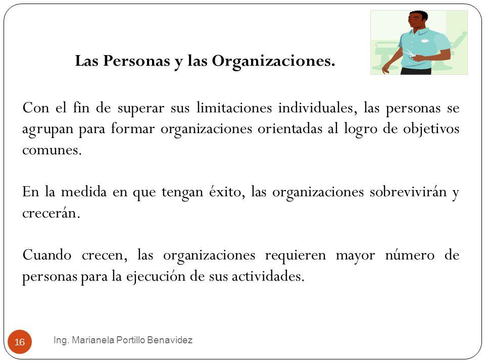 Las Personas y las Organizaciones.