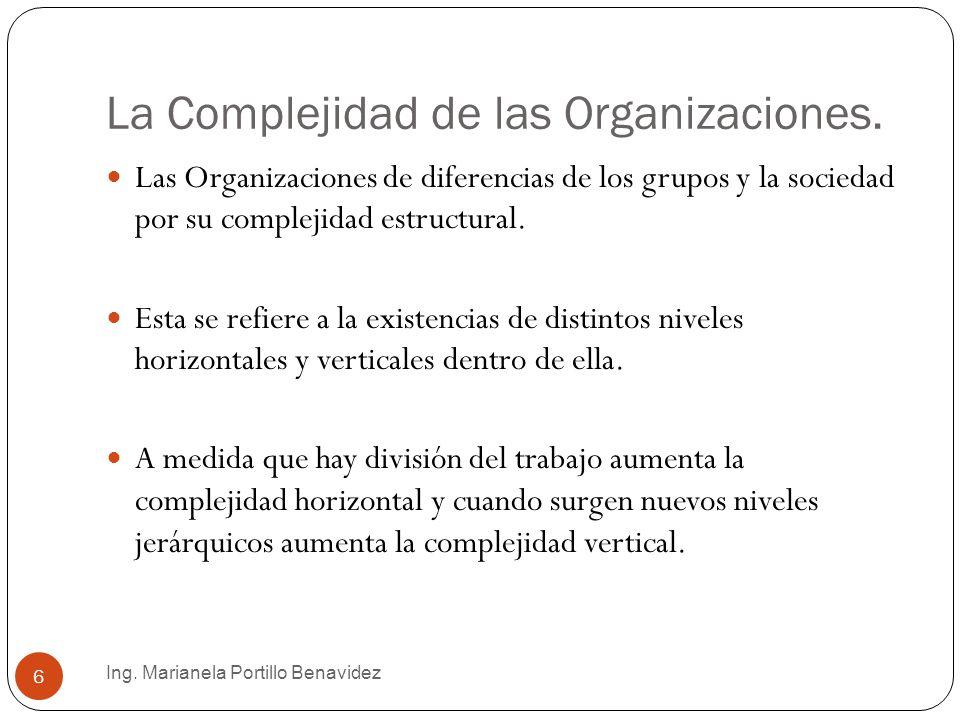 La Complejidad de las Organizaciones.