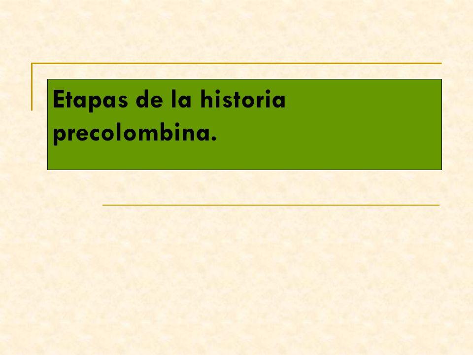 Etapas de la historia precolombina.
