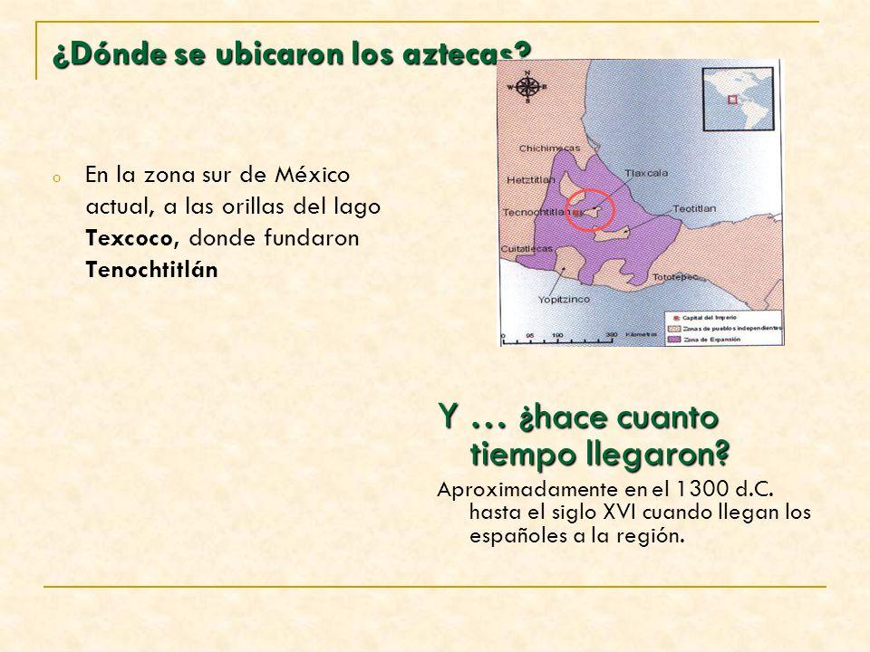 ¿Dónde se ubicaron los aztecas