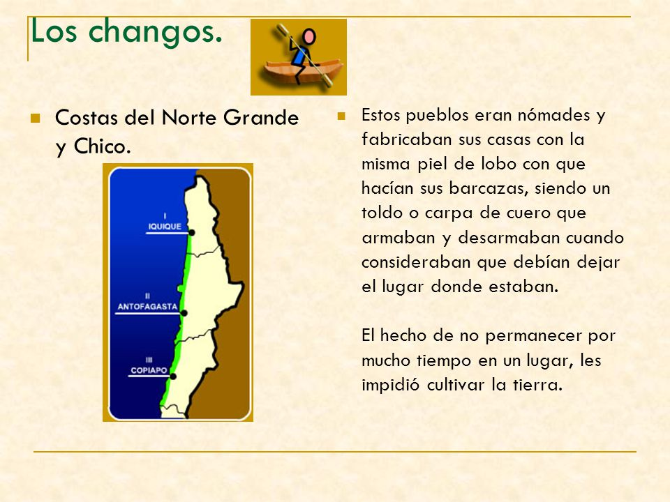 Los changos. Costas del Norte Grande y Chico.