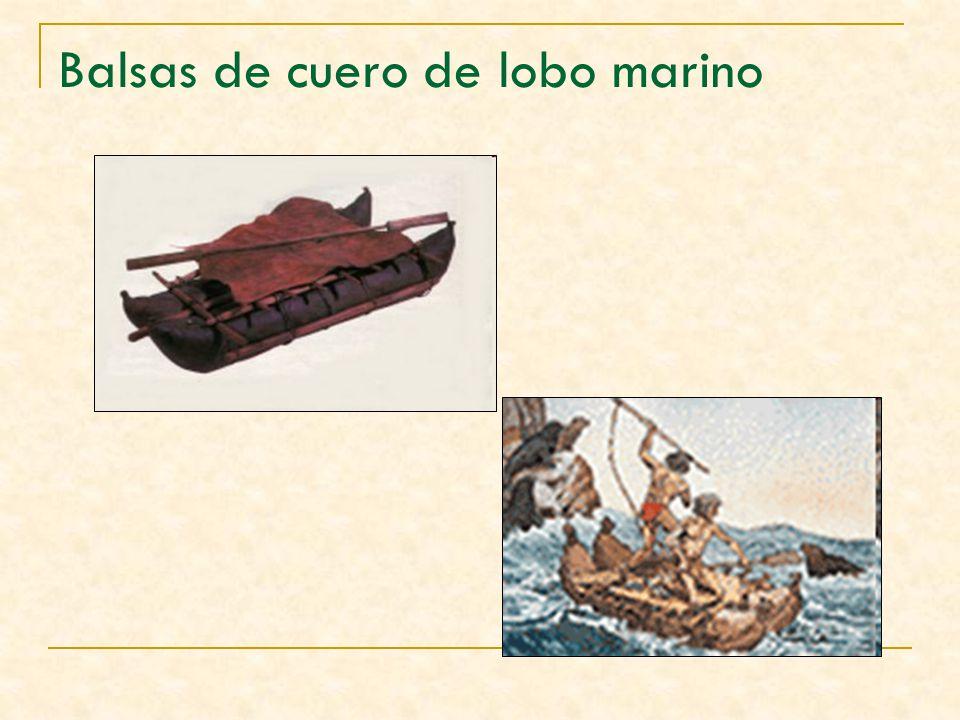 Balsas de cuero de lobo marino