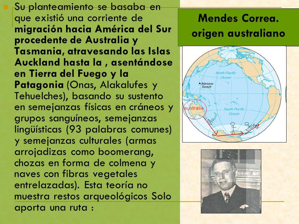 Mendes Correa. origen australiano