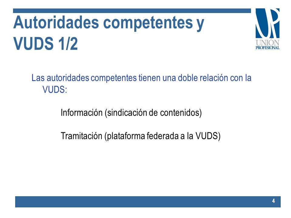 Autoridades competentes y VUDS 1/2