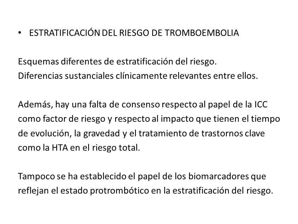 ESTRATIFICACIÓN DEL RIESGO DE TROMBOEMBOLIA
