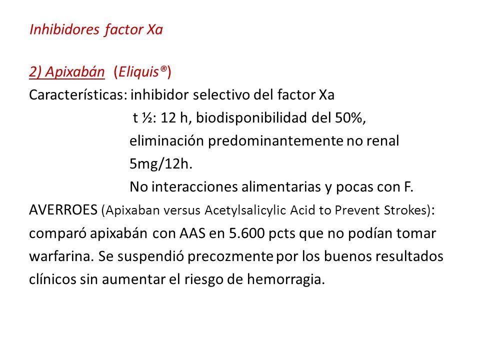 Inhibidores factor Xa