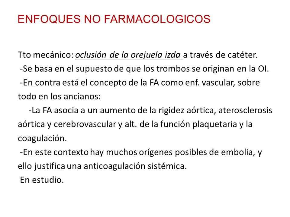 ENFOQUES NO FARMACOLOGICOS