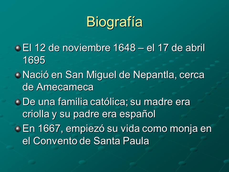 Biografía El 12 de noviembre 1648 – el 17 de abril 1695