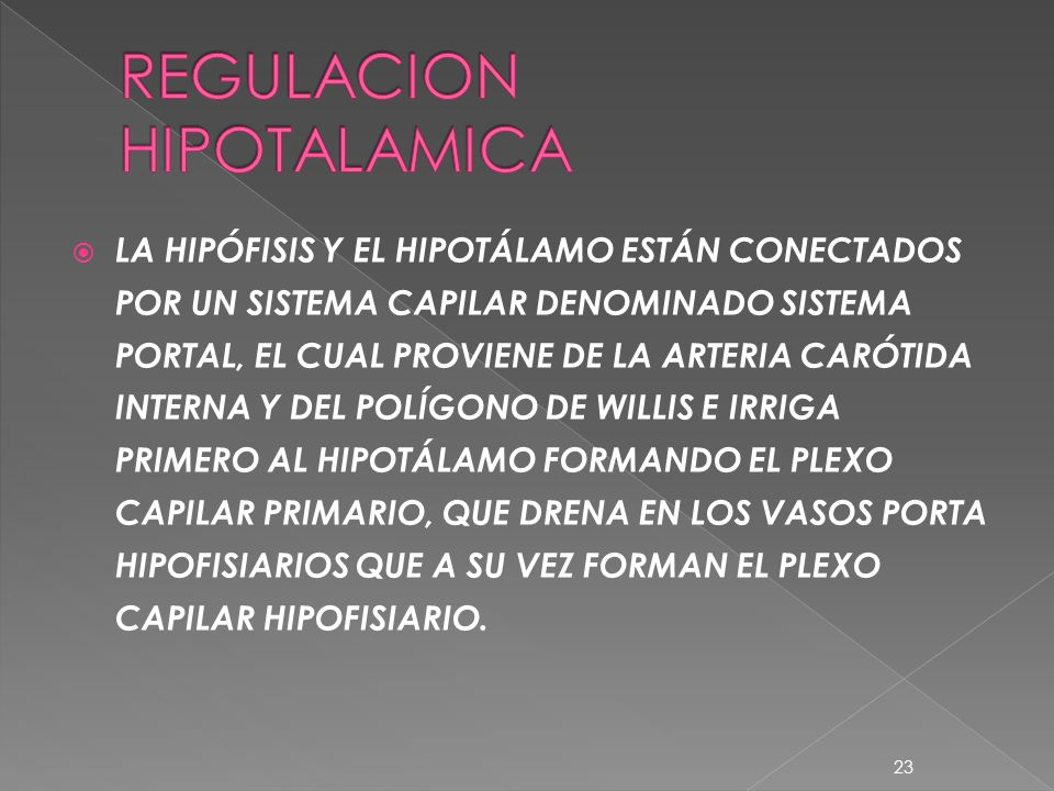 REGULACION HIPOTALAMICA