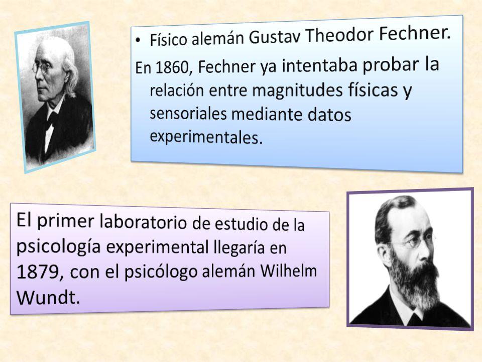 Físico alemán Gustav Theodor Fechner.