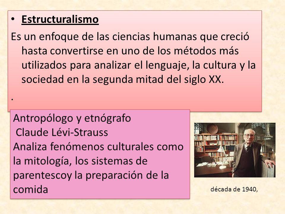 Antropólogo y etnógrafo Claude Lévi-Strauss