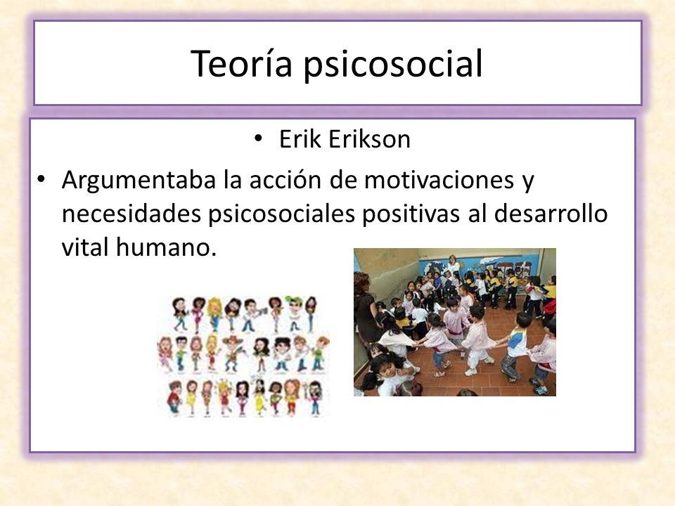 Teoría psicosocial Erik Erikson