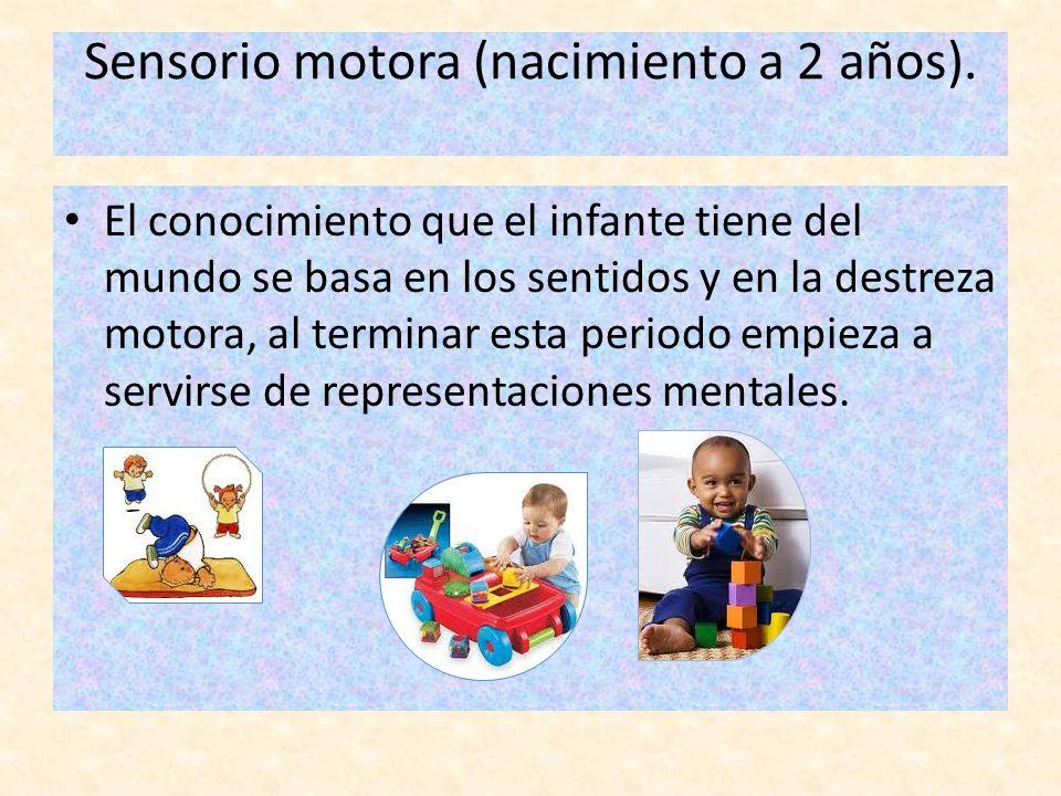Sensorio motora (nacimiento a 2 años).