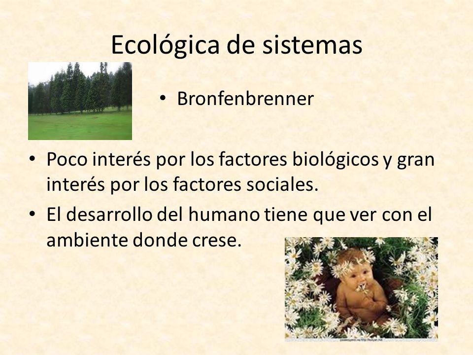 Ecológica de sistemas Bronfenbrenner