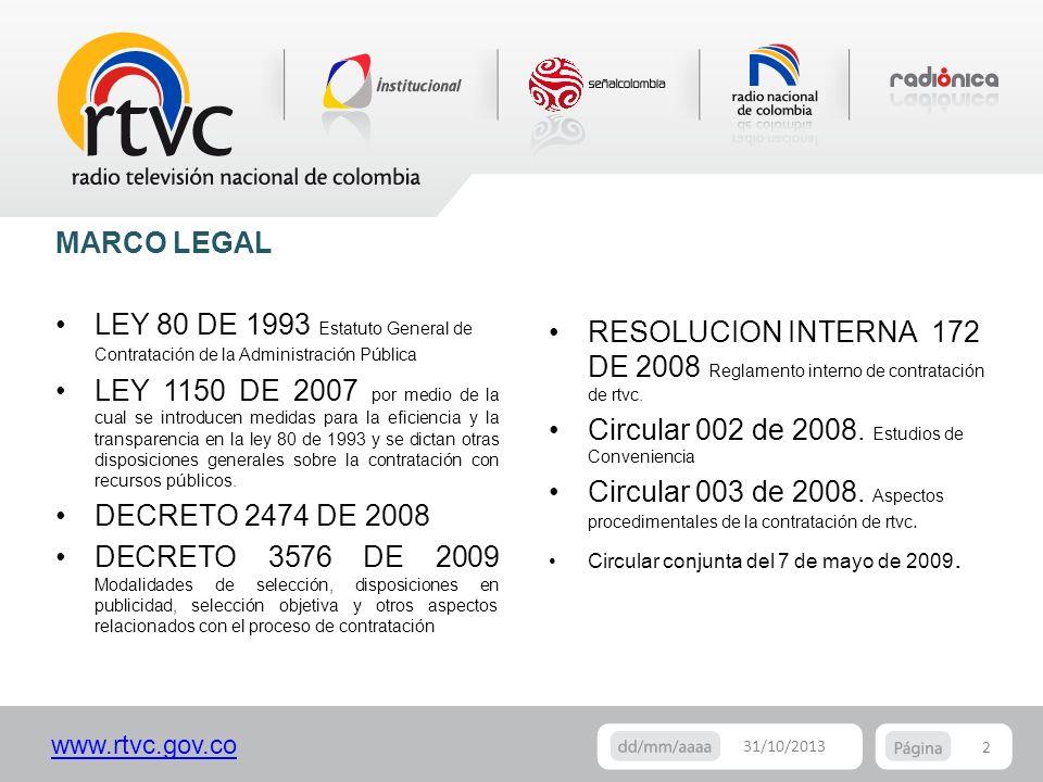 Circular 002 de 2008. Estudios de Conveniencia