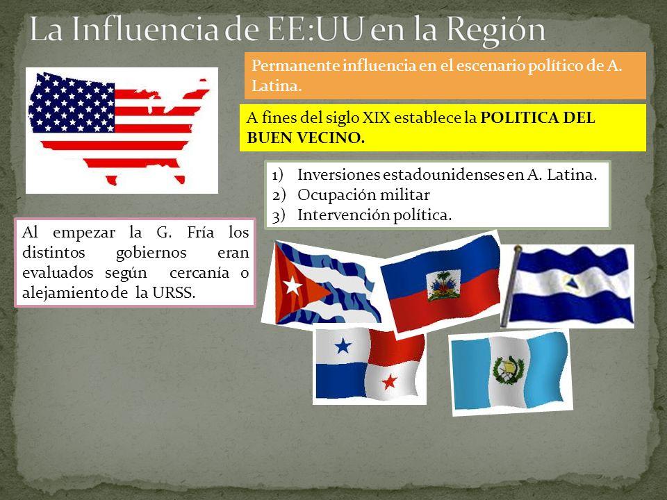 La Influencia de EE:UU en la Región