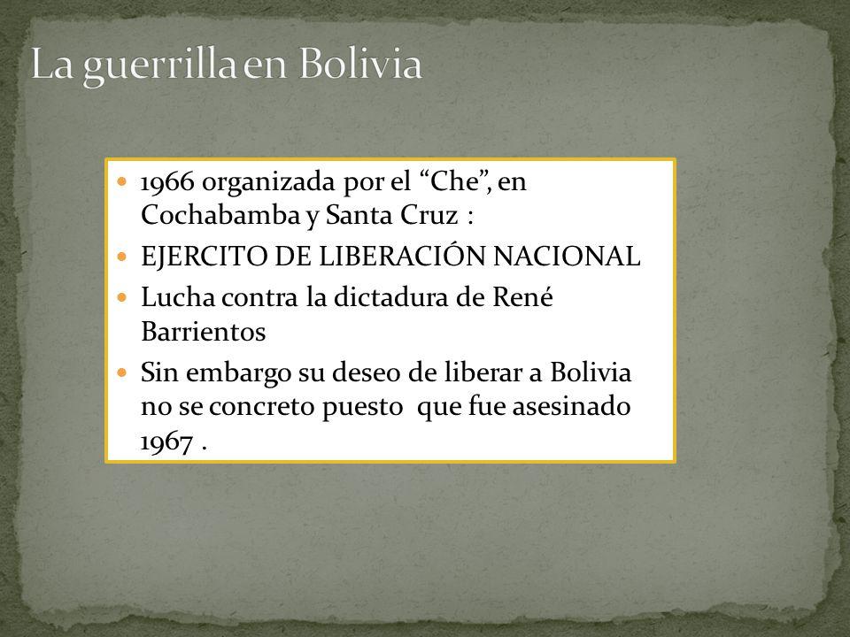 La guerrilla en Bolivia