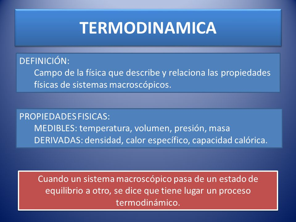 TERMODINAMICA DEFINICIÓN: