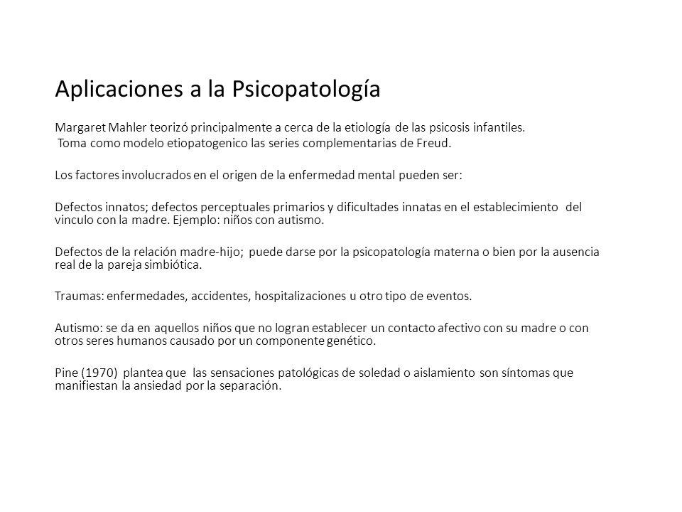Aplicaciones a la Psicopatología