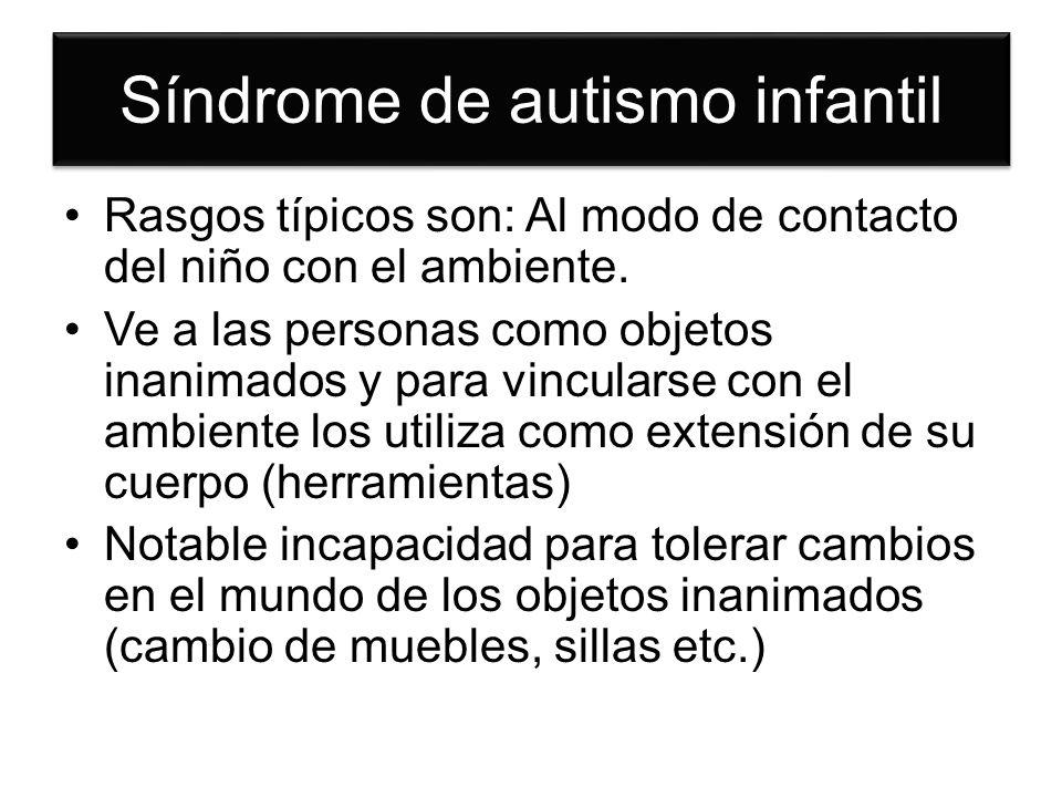 Síndrome de autismo infantil