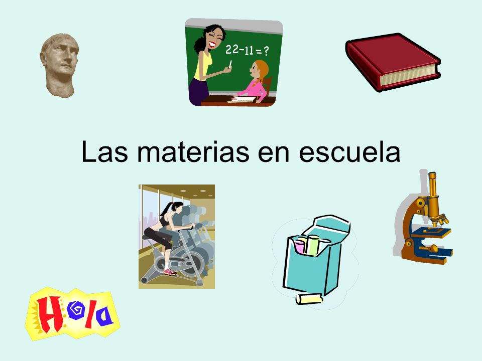 Las materias en escuela