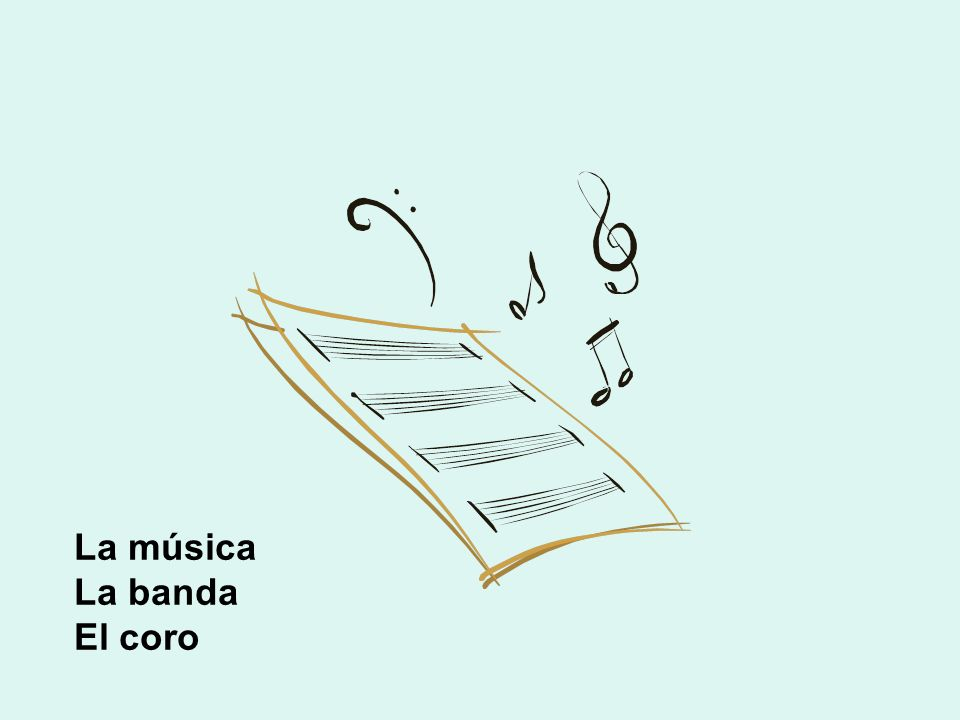 La música La banda El coro