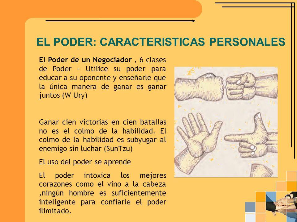 EL PODER: CARACTERISTICAS PERSONALES