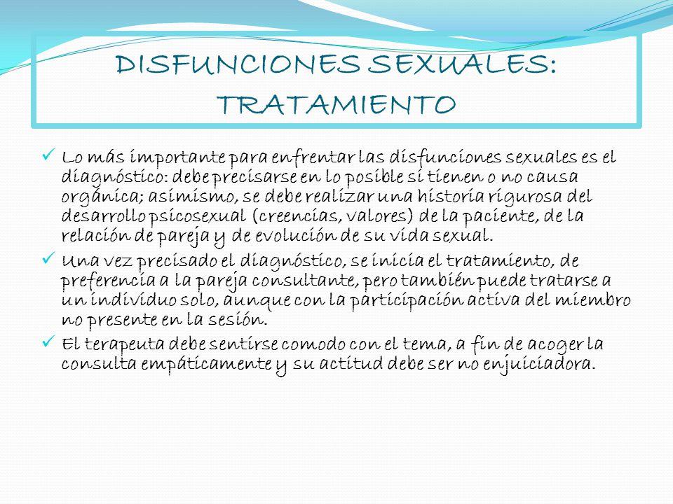 DISFUNCIONES SEXUALES: TRATAMIENTO
