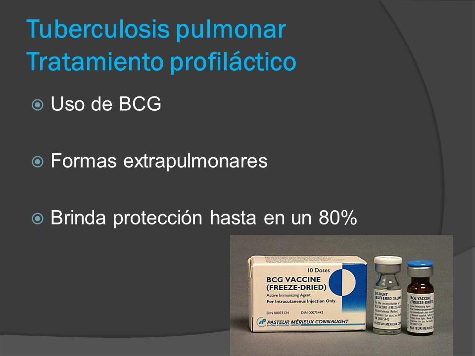 Tuberculosis pulmonar Tratamiento profiláctico