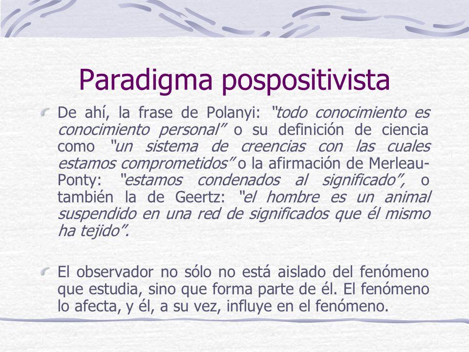 Paradigma pospositivista