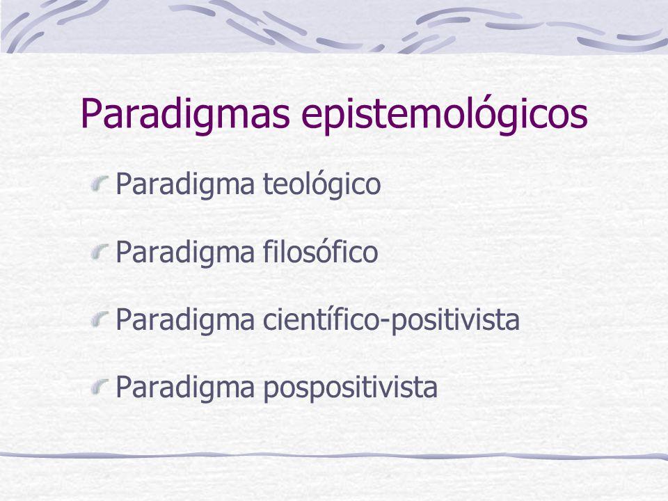 Paradigmas epistemológicos