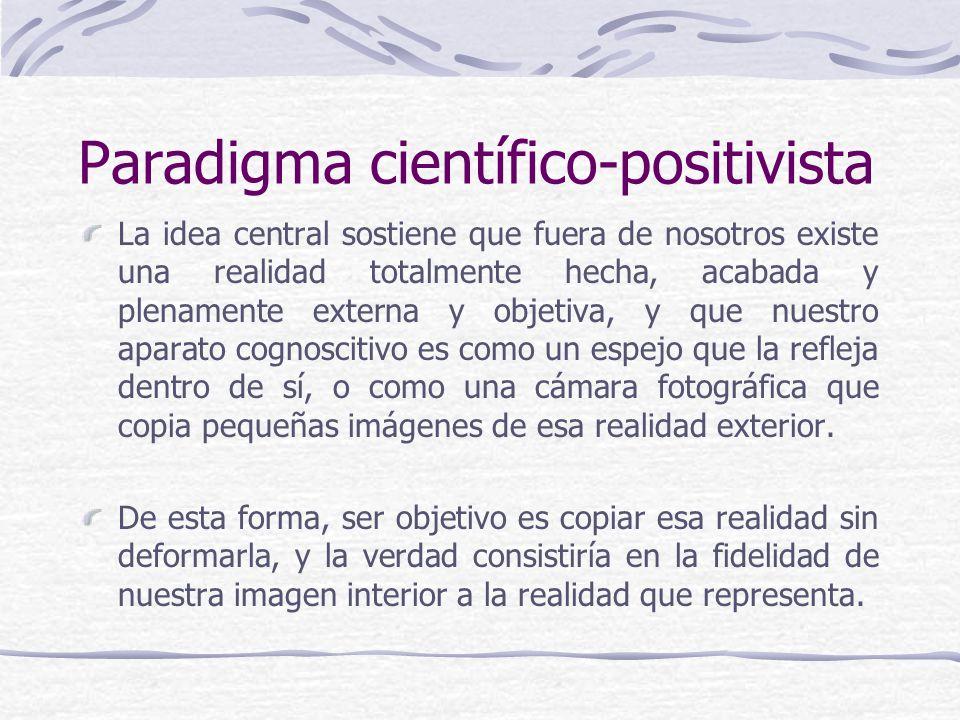 Paradigma científico-positivista
