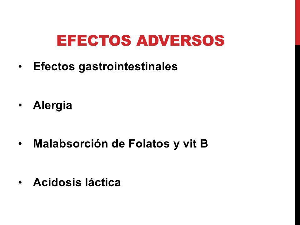 Efectos adversos Efectos gastrointestinales Alergia