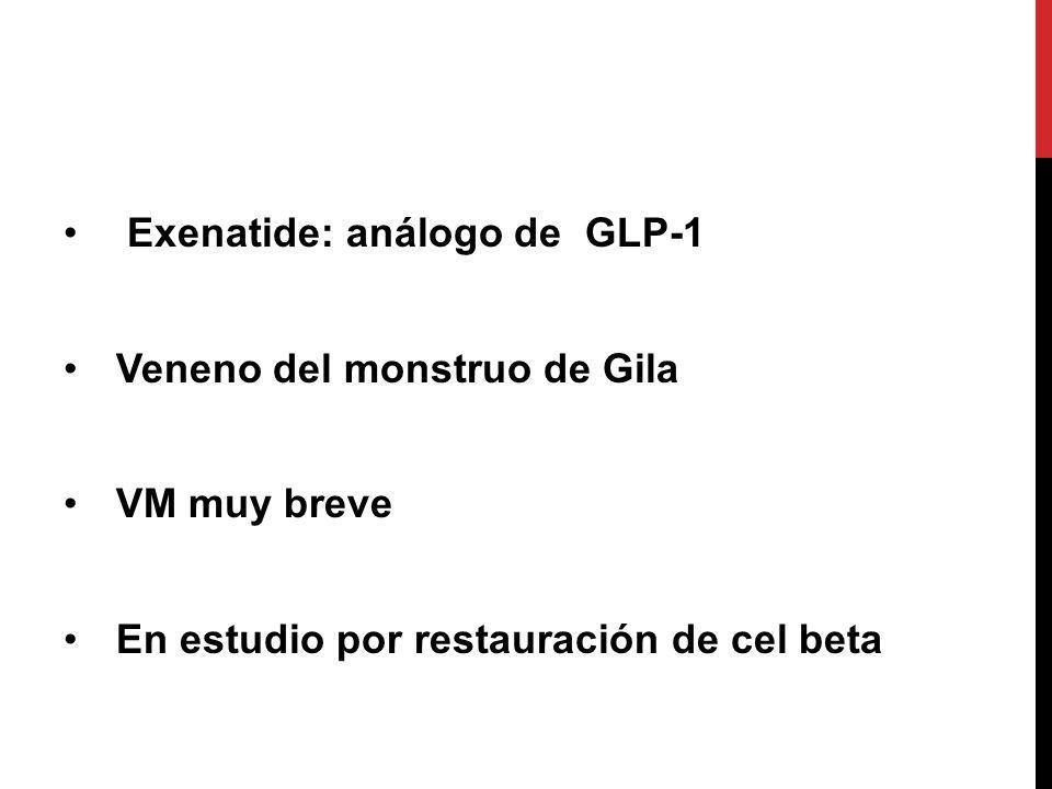 Exenatide: análogo de GLP-1
