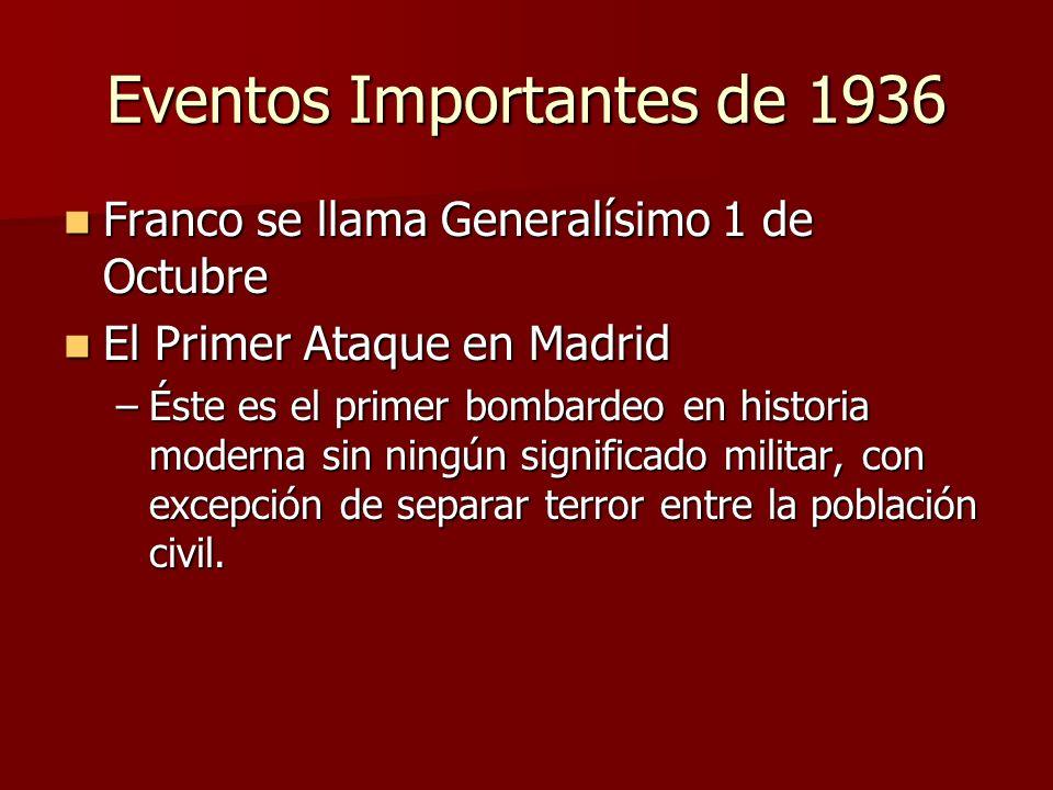 Eventos Importantes de 1936