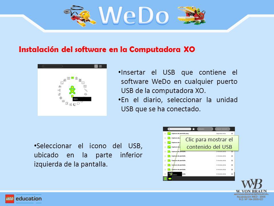 Clic para mostrar el contenido del USB