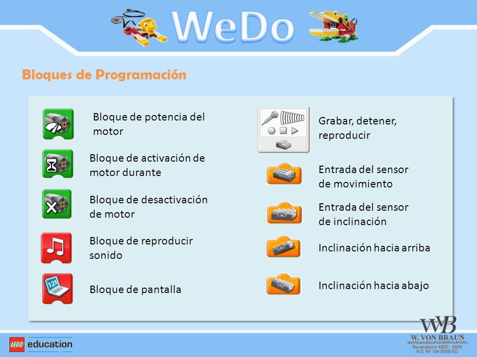 WeDo Bloques de Programación Bloque de potencia del motor