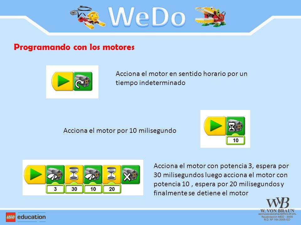 WeDo Programando con los motores